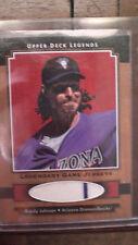 Randy Johnson Upper Deck Legends Game Used Jersey Card 2001 Diamondbacks Yankees