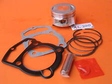 Piston 63.5 +0.25mm Bore flat top Rings Wrist Pin Clips Gaskets Kit Honda XL185