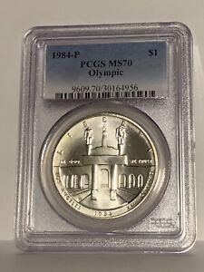 1984-P OLYMPIC SILVER DOLLAR MS-70