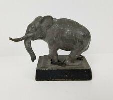 Vintage Antique Old Cast Metal Elephant Shackled Circus Figure Figurine