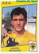 015 Christos Maladenis GREECE AEK.ATHEN RARE STICKER PODOSPHAIRO 1998 PANINI