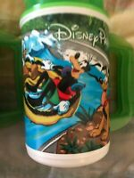 DISNEY PARKS Rapid Fill Plastic Souvenir Travel Mug Cup Pluto Goofy Donald GREEN