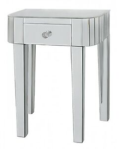 Classic Mirror Small Low Lamp/Telephone Table with Drawer