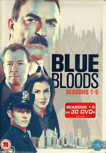 BLUE BLOODS: Season 1-5 DVD (2015) Tom Selleck - 30 Discs - R2 PAL - NEW/SEALED!