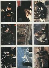 BATMAN RETURNS MOVIE cards (1992 Topps) STADIUM CLUB complete 10 CARD SUBSET