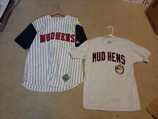 New listing LARGE Toledo MudHens PINSTRIPE Throwback MLB and T SHIRT Baseball Jersey