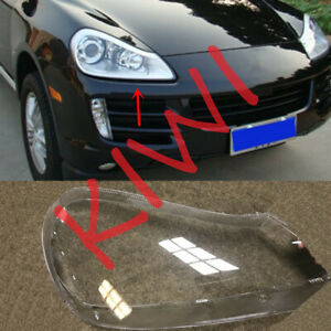 Right Side Headlight Cover Transparent PC + Glue for Porsche Cayenne 2008-2010