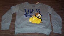 WOMEN'S TEEN Walt Disney BEAUTY AND THE BEAST Crew Sweatshirt MEDIUM NEW w/ TAG