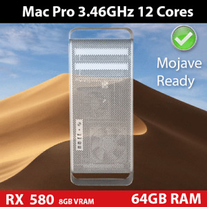2012 Mac Pro  | 3.46GHz 12-Core | 64GB | 1TB NVMe SSD + 1TB HDD | AMD 580 RX 8GB