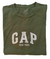 GAP New York T-Shirt Men's Green Tee Size (XL) Short Sleeves Crew Neck Cotton