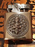 Vintage Ronson Cigarette Lighter - Sterling Silver -Buddah Emblem - Made in Siam