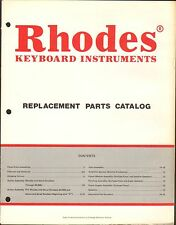 1980s RHODES KEYBOARD MUSICAL INSTRUMENT REPLACEMENT PARTS CATALOG #2