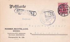 Germania 1916 Roemer Bechtel & Co BREMA ad Amsterdam cartolina utilizzati in buonissima condizione