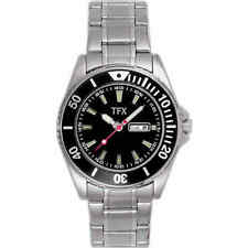 TFX by Bulova Collection 38N02 Silver Tone Day/Date Black Dial Women's Watch