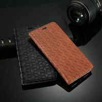 Luxury Genuine Leather Retro Embossed Wallet Case Stand Cover for iPhone 7 Plus