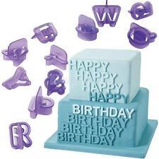 40x Alphabet Letter Mould Fondant Cake Tools Cupcake Mold Border Sugar Paste