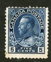 Bigjake: Canada #111, 5 cent King George V, Admiral Issue