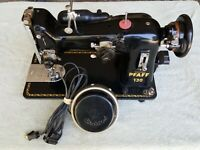 PFAFF 130 Working Sewing Machine Made in Germany with Circletrol foot pedal READ