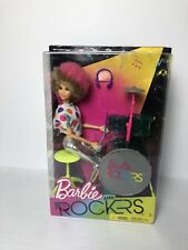 Barbie and the Rockers Doll and Drum Set 2017 Drummer Pink Tan Afro Limited