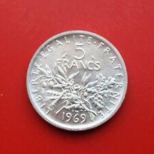 "France-France: 5 francs argent 1969, KM # 926, St-BU, #f0672, ""SEMEUSE"""
