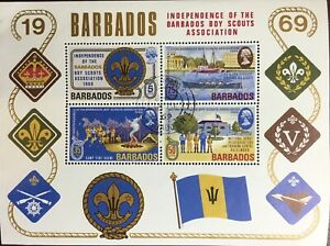 Barbados 1969 Scouts Minisheet FU
