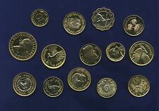 24K GOLD PLATED ASSORTED WORLD COINS, GROUP LOT OF (14)