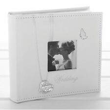 "Wedding Rings White Large Photo Album 17.5 cm Holds 80 6"" x 4"" 15cm x 10cm"