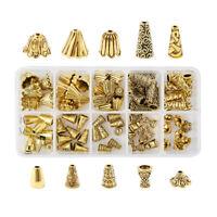 80pcs/box Alloy Bead Cap Bead Cone End Caps Terminators Antique Golden