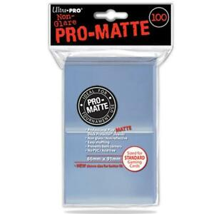 ULTRA PRO Deck Protector Sleeves Pro Matte Clear Standard 100ct 66 x 91 mm