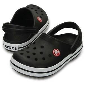 Crocs Crocband K Clogs Little Kid Sandals Slippers Toddler Size C 9 Black