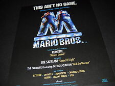 SUPER MARIO BROTHERS This Ain't No Game 1993 movie music PROMO AD Roxette MINT