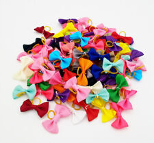 500X Wholesale Small Dog Hair Bows W/Rubber Bands For Puppy Pet Hair Accessories