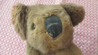 Vintage old Koala Bear ,real fur,18 cms high,lovely,eyes ,rubber nose