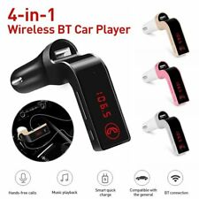 Wireless Bluetooth Car FM Transmitter Adapter AUX Handsfree USB Charging TF Card