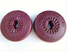 "Weight Plates (2) 4.4 lb (2 kg) Orbatron Super Star Plastic Weights 1"" Hole USA"