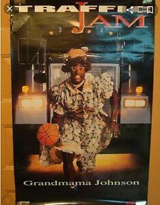 Vintage 1993 CONVERSE Larry Johnson Grandmama TRAFFIC JAM Poster 23 x 35 RARE