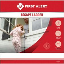 New listing First Alert Anti Slip El522 Two-Story 14ft Fire Escape Ladder