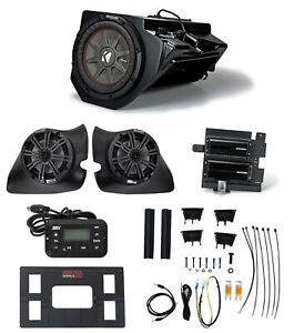 "2014-2017 Polaris RZR KICKER 6.5"" Speakers+Subwoofer+(2) Amps+Receiver+Wire Kits"