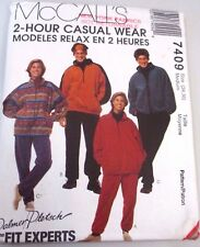 McCall's Sewing pattern no.7409 UNISEX TRACK SUIT size 34,36 UNUSED