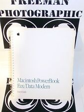 Apple Macintosh Powerbook Fax Modem Manual Vintage Rare Mac Power Book 170 140