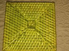 New listing Set of Four Green Wicker Square Coasters Pier One (?)