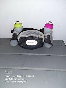 New Balance Running Racing Hydration Water 2 Bottle Waist Belt