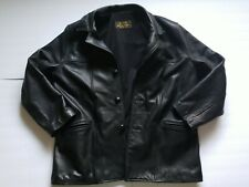 Johnson Leathers of San Francisco Mid-Length Black Leather Jacket Mens XL-2XL