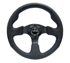 NRG New Age Sport Steering Wheel 320mm Black Leather w/ Blue Stitch