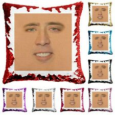 Nicolas Sequin Cushion Celebrity Fan Movie Funny Birthday Pillow Cover + Filling