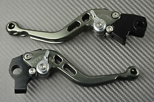 Short brake & clutch levers pair CNC titanium Yamaha Raptor 700  2008- 2009