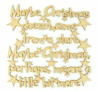 'Maybe Christmas doesn't come from a store...' Wooden MDF The Grinch Quote Sign