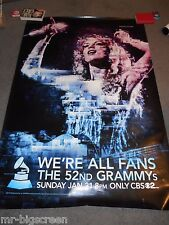 "TAYLOR SWIFT- ORIGINAL ROLLED 2010 GRAMMY BUS SHELTER POSTER - 48"" X 70"""