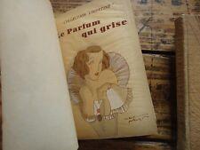 LOT 3 VOLUMES COLLECTION LIBERTINE EDITION  NILSSON GRAVURE POCHOIR  1920
