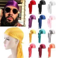 Unisex Mens Womens Bandana Doo Durag Rag Headwear Silk Pirate Cap Headwrap Hat